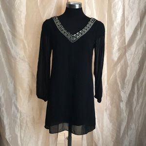 BCX embroidered V neck Dress